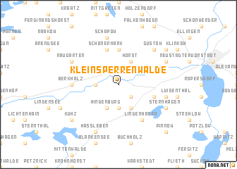map of Klein Sperrenwalde