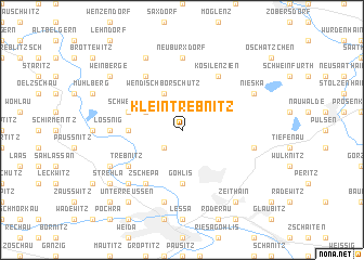 map of Kleintrebnitz