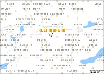 map of Klein Wokern