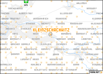 map of Kleinzschachwitz