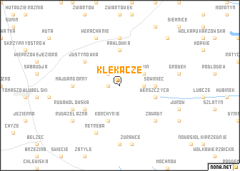 map of Klekacze