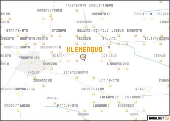 map of Klemënovo