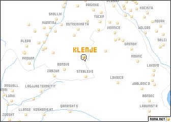 map of Klenjë