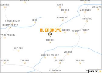 map of Klenovoye