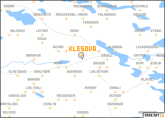 map of Klešova
