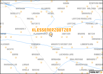 map of Klessener Zootzen