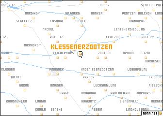 map of Klessener Zootzen