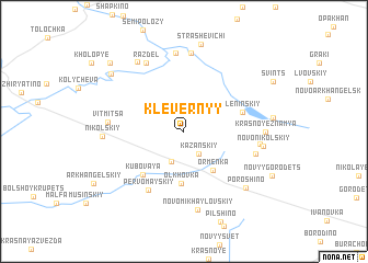 map of Klevernyy