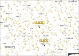 map of Kličići