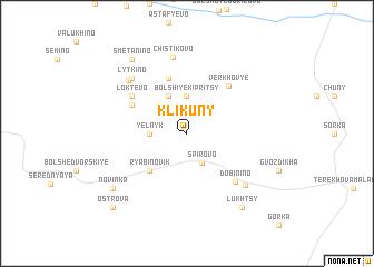 map of Klikuny