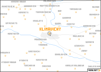 map of Klimavichy