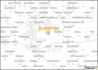 map of Klimontów