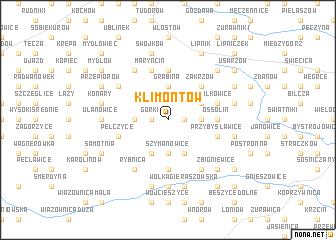 map of Klimontów