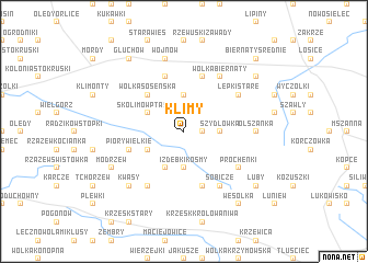 map of Klimy