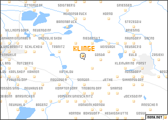 map of Klinge