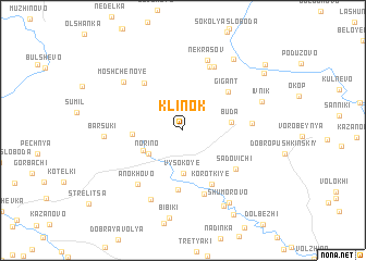 map of Klinok