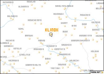 map of Klinok