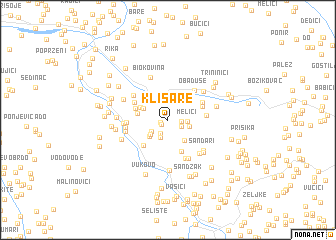 map of Klisare