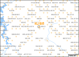 map of Klisín