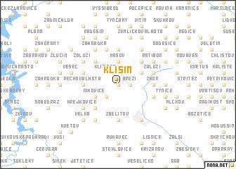 map of Klisín