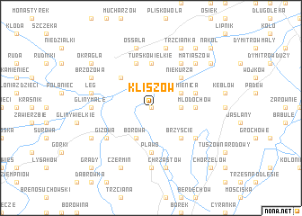 map of Kliszów