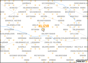 map of Klizin