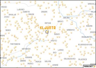 map of Kljunta