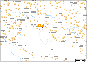 map of Kljun