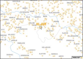 map of Kljun