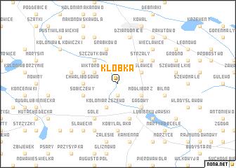 map of Kłóbka