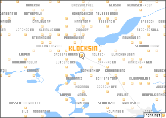map of Klocksin