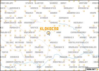 map of Klokočná