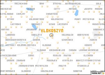 map of Kłokoszyn