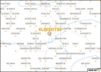 map of Klokovitse
