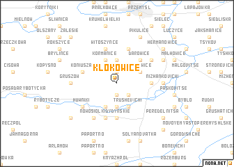 map of Kłokowice