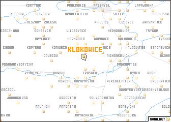 map of Kłokowice