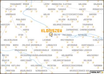map of Kłoniszew