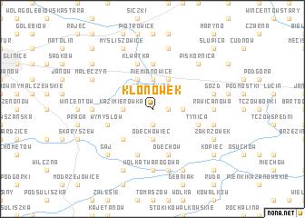 map of Kłonówek