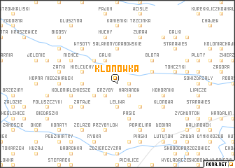 map of Klonówka