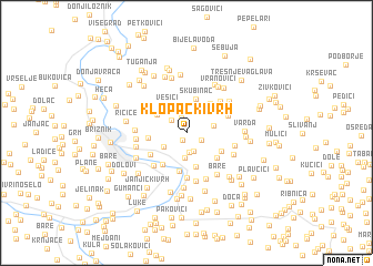 map of Klopački Vrh