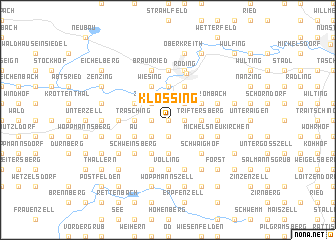 map of Klössing