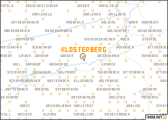 map of Klosterberg
