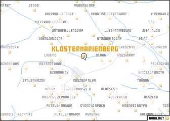 map of Klostermarienberg