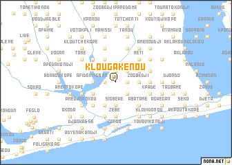 map of Klougakénou