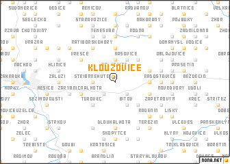 map of Kloužovice