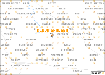 map of Klövinghausen