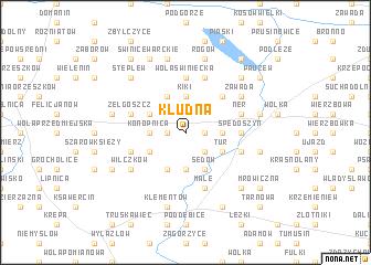map of Kłudna