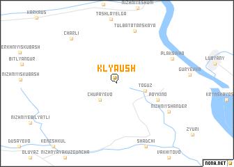 map of Klyaush