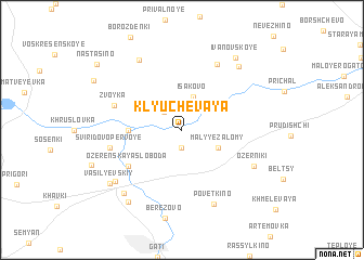 map of Klyuchevaya