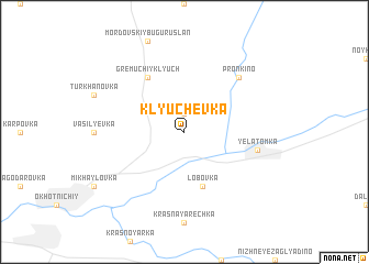 map of Klyuchëvka